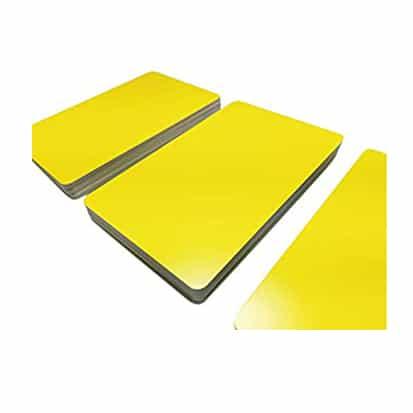 Carte PVC Jaune 0.76mm